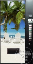 Dixie Narco 501 Can Drink Machine With Beach Front